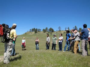 The 2010 Eco-Stewards hike through the prairie of Eastern Montana.