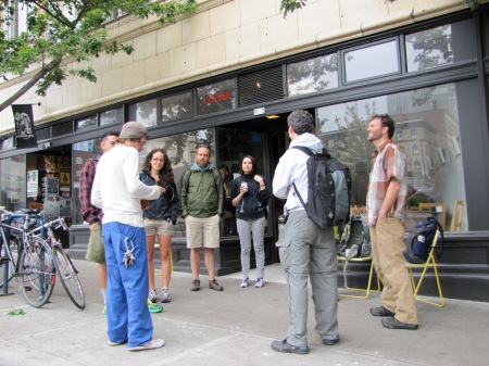 Learning about the coffee market in Portland.