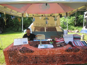 Eco-Steward Daniel Loya at the Wild Goose Festival in Hot Springs, NC. Daniel participated in Eco-Stewards Portland.
